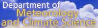 Department of Meteorology & Climate Science